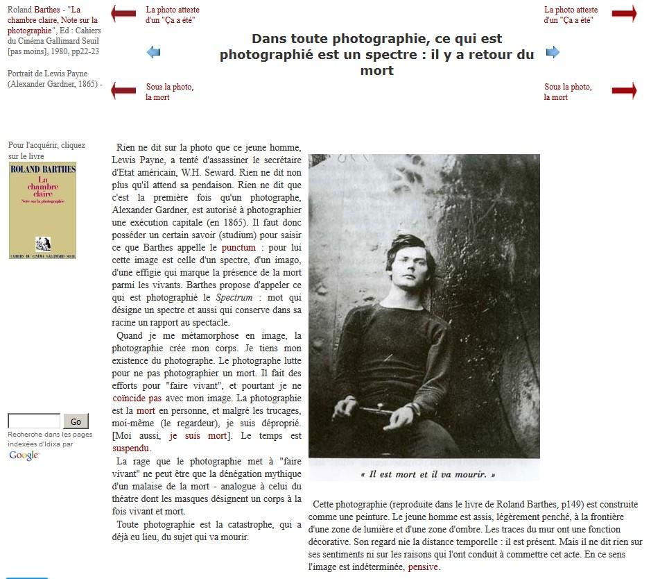 """""""Moi, Pierre Rivière, ayant égorgé ma mère , ma soeur et mon frère ..."""" Barthespayne"""